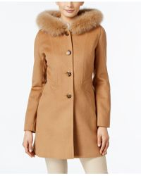 Forecaster - Fox-fur-trim Hooded Walker Coat, Only At Macy's - Lyst