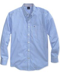 13ec5bfd95ef Lyst - Tommy Hilfiger Twain Checked Classic-Fit Shirt in Blue for Men