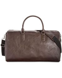 Kenneth Cole Reaction - Faux-leather Duffel Bag - Lyst