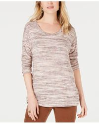 Style & Co. - Petite Striped Sweater, Created For Macy's - Lyst