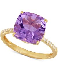Macy's - Amethyst (3-3/4 Ct. T.w.) And Diamond Accent Ring In 14k Gold - Lyst