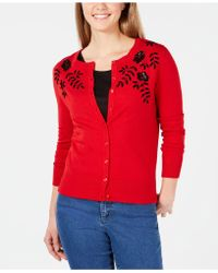 Charter Club - Embellished Flower Cardigan, Created For Macy's - Lyst