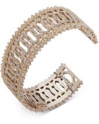 Marchesa - Gold-tone Crystal Cuff Bracelet - Lyst