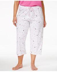 Hue - Plus Size Printed Capri Pajama Pants - Lyst