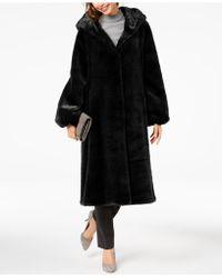 Jones New York - Hooded Faux-fur Coat - Lyst