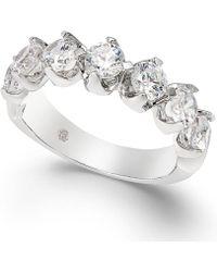 Macy's - Diamond Scalloped Ring (1-1/2 Ct. T.w.) In 14k White Gold - Lyst