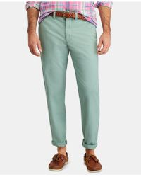 574cec19 Polo Ralph Lauren Stretch Tailored Slim Fit Pant in White for Men - Lyst