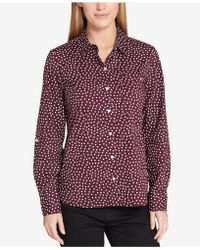 Tommy Hilfiger | Cotton Core Printed Roll-tab Shirt | Lyst