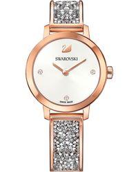 Swarovski   Swiss Cosmic Rock Crystal Rose Gold-tone Bracelet Watch 29mm   Lyst