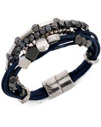 Kenneth Cole - Two-tone Multi-row Cord Bracelet - Lyst