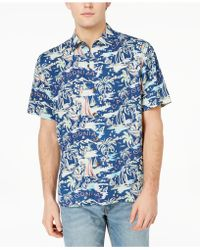 Tommy Bahama - Destination California Graphic-print Silk Shirt - Lyst