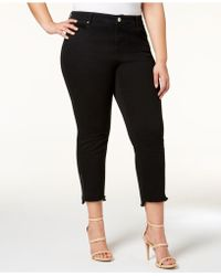 INC International Concepts - I.n.c. Plus Size Step-hem Cropped Jeans, Created For Macy's - Lyst