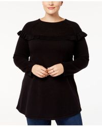 Style & Co. Plus Size Ruffled Tunic Jumper