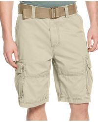 American Rag - Belted Relaxed Cargo Shorts - Lyst