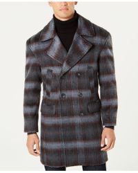 INC International Concepts - Grunge Plaid Topcoat, Created For Macy's - Lyst