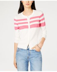 Maison Jules - Partial-stripe Cardigan Sweater, Created For Macy's - Lyst