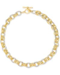 """Charter Club - Two-tone Twisted Link 18"""" Necklace, Created For Macy's - Lyst"""
