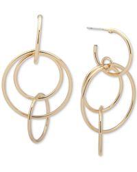 Nine West - Multi-circle Drop Earrings - Lyst