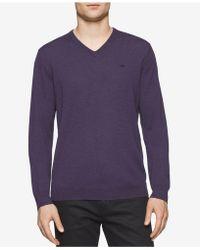 CALVIN KLEIN 205W39NYC - Men's Solid V-neck Sweater - Lyst