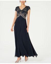 J Kara - Sequined Empire-waist Gown - Lyst