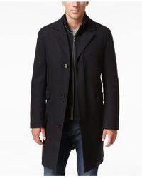 Cole Haan - Men's Twill Bibby Overcoat - Lyst