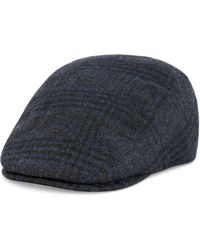 Lyst - Levi s Men s Plaid Flat Top Plaid Ivy Hat in Blue for Men 11e7cd10ef91