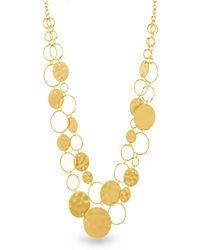 Catherine Malandrino - Graduated Circle Yellow Gold-tone Chain Necklace - Lyst