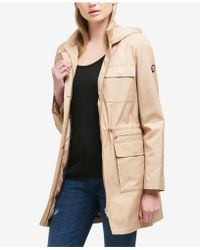DKNY - Petite Cinched-waist Raincoat - Lyst