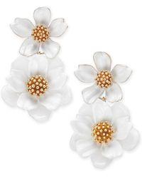 Kate Spade - Gold-tone Flower Double Drop Earrings - Lyst