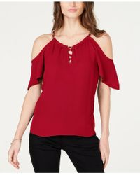 INC International Concepts - I.n.c. Lace-up Cold-shoulder Top, Created For Macy's - Lyst