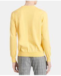 Calvin Klein - Solid Supima Cotton Sweater - Lyst