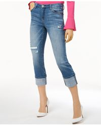 INC International Concepts - Cropped Ripped Jeans, Created For Macy's - Lyst