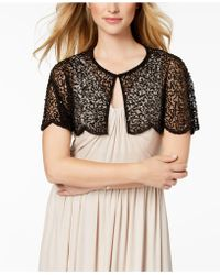 Adrianna Papell - Flutter-sleeve Embellished Capelet - Lyst