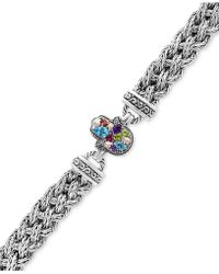 Effy Collection - Multi-gemstone (1-1/3 Ct. T.w.) Hamsa Hand Bracelet In Sterling Silver - Lyst