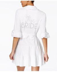 "Betsey Johnson - ""the Bride"" Terry Robe 7351109 - Lyst"