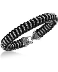 Scott Kay - Men's Woven Leather Bracelet In Sterling Silver - Lyst