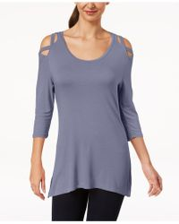 Love Scarlett - Petite Cold-shoulder Tunic, Created For Macy's - Lyst