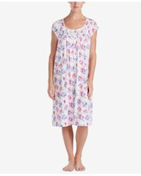 Eileen West - Waltz Petite Lace-trim Knit Nightgown - Lyst