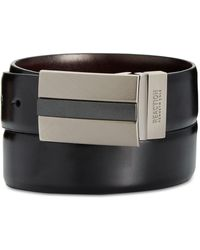 Kenneth Cole Reaction - 35mm Reversible Mixed-finish Plaque Belt - Lyst