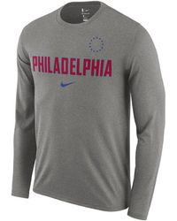 Nike - Philadelphia 76ers Essential Facility Long Sleeve T-shirt - Lyst 55a3c7d42