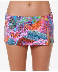 Bleu Rod Beattie - Printed Swim Skirt - Lyst