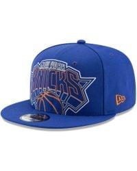los angeles 5dbae e8b7c adidas New York Knicks Tag Slouch Cap in Orange for Men - Lyst