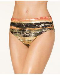 Carmen Marc Valvo - Pacific Sunset Metallic Bandeau Bikini Top - Lyst
