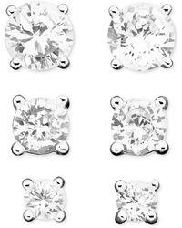 Giani Bernini - Earring Set, Cubic Zirconia Stud (1/3 Ct. T.w. - 2-3/4 Ct. T.w.) - Lyst