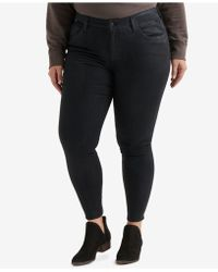 8d00d66d918ac Lyst - Lucky Brand Trendy Plus Size Ginger Skinny Jeans in Black
