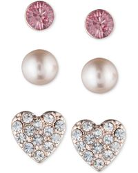 Lonna & Lilly - Rose Gold-tone 3-pc. Set Stud Earrings - Lyst