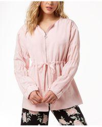 Kensie - Ruched-sleeve Anorak Jacket - Lyst