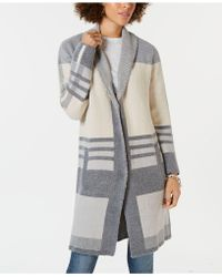 Style & Co. - Colorblocked Long Cardigan Jumper, Created For Macy's - Lyst