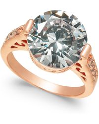Charter Club - Rose Gold-tone Crystal Etched Ring, Created For Macy's - Lyst