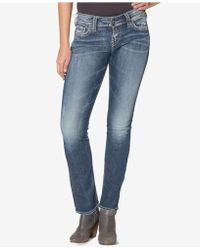 Silver Jeans Co. - Curvy Straight-leg Jeans - Lyst